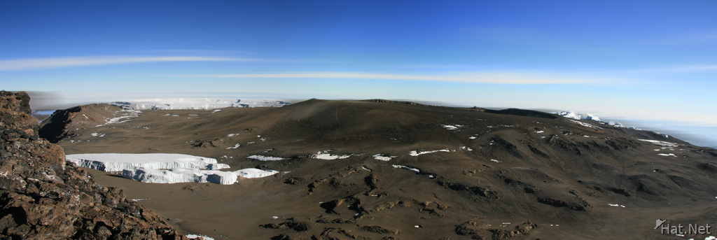 crater on uhuru peak