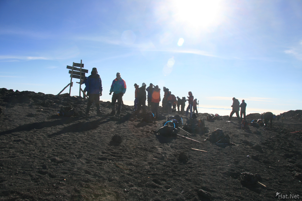 hikers reaching uhuru peak