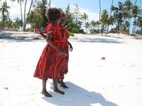 twin girls on matemwe beach Zanzibar, East Africa, Tanzania, Africa