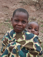 me and my little brother Rawangi, East Africa, Tanzania, Africa