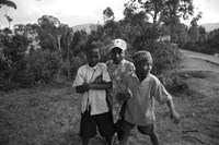 three boys Rawangi, East Africa, Tanzania, Africa