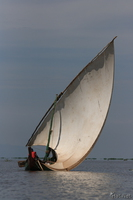 view--dhow boat on lake victoria Kisumu, East Africa, Kenya, Africa