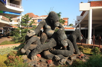 chimps island in shopping mall Kampala, East Africa, Uganda, Africa