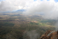 view--irenet point in mist Mtae, Ushoto, East Africa, Tanzania, Africa