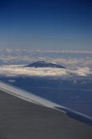 mountain kilimanjaro from air Nairobi, East Africa, Kenya, Africa