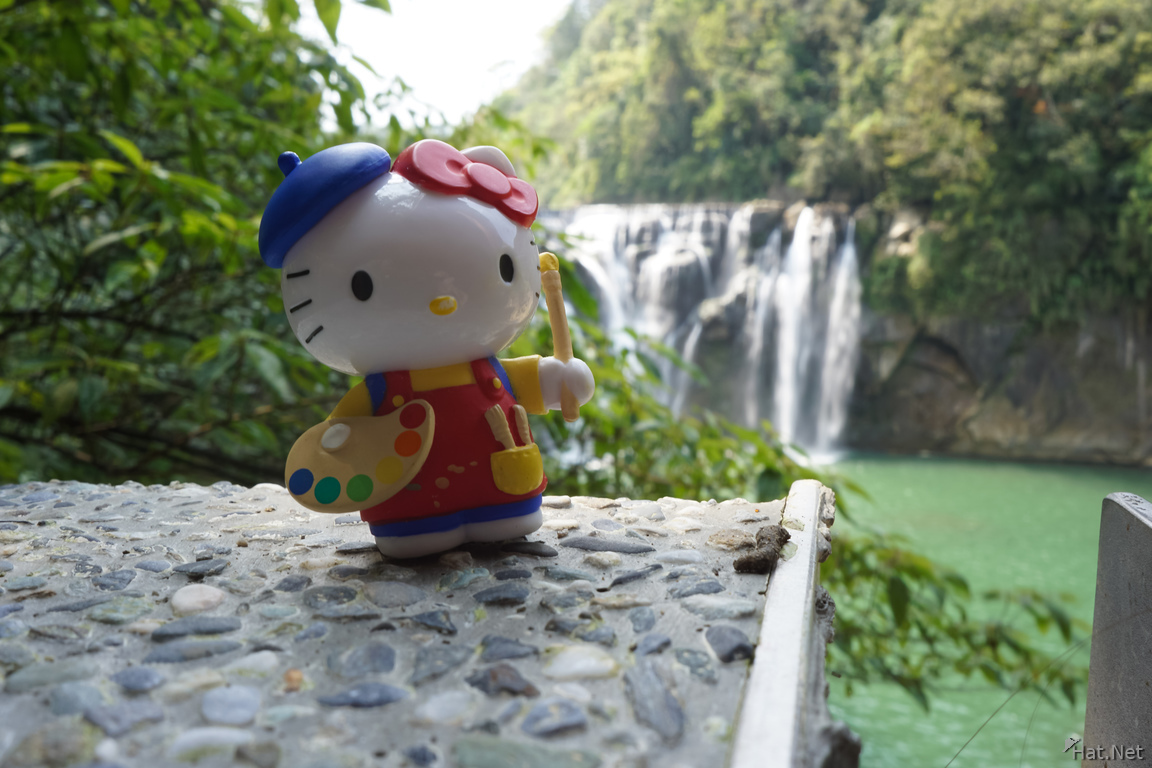 Hello kitty and Shifen Waterfall