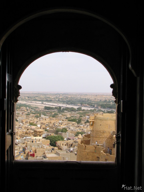 through the palace window