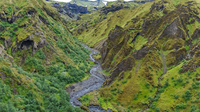 fimmvorduhals canyon rivers South,  Iceland, Europe
