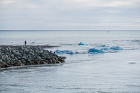 Jokulsarlon Glacier sea outlet Snafellsjokull,  East,  Iceland, Europe