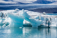 Jokulsarlon Glacier ice bridge Snafellsjokull,  East,  Iceland, Europe
