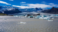Fjallsarlon Glacier floating ice Snafellsjokull,  East,  Iceland, Europe