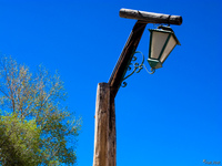 view--lamp post in humahuaca Humahuaca, Jujuy and Salta Provinces, Argentina, South America