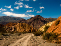path into hills Purmamarca, Northern Salta Provinces, Argentina, South America