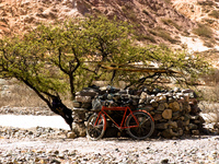 bicycle Purmamarca, Northern Salta Provinces, Argentina, South America