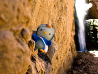 hello kitty in diablo waterfall Tilcara, Jujuy and Salta Provinces, Argentina, South America