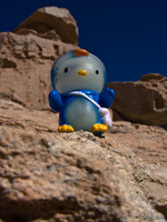 hello kitty in desert of siloli Laguna Colorado, Potosi Department, Bolivia, South America