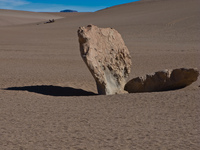 rocks of desert of siloli Laguna Colorado, Potosi Department, Bolivia, South America