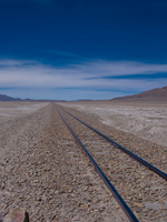 railway in salar de chiguana Laguna Colorado, Potosi Department, Bolivia, South America