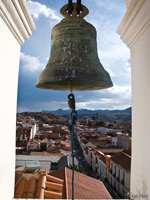 view--sucre belfry Sucre, Santa Cruz Department, Bolivia, South America
