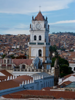 clock tower from iglesia de la merced Sucre, Santa Cruz Department, Bolivia, South America