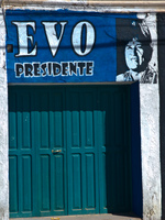 evo for president Uyuni, Potosi, Potosi Department, Bolivia, South America