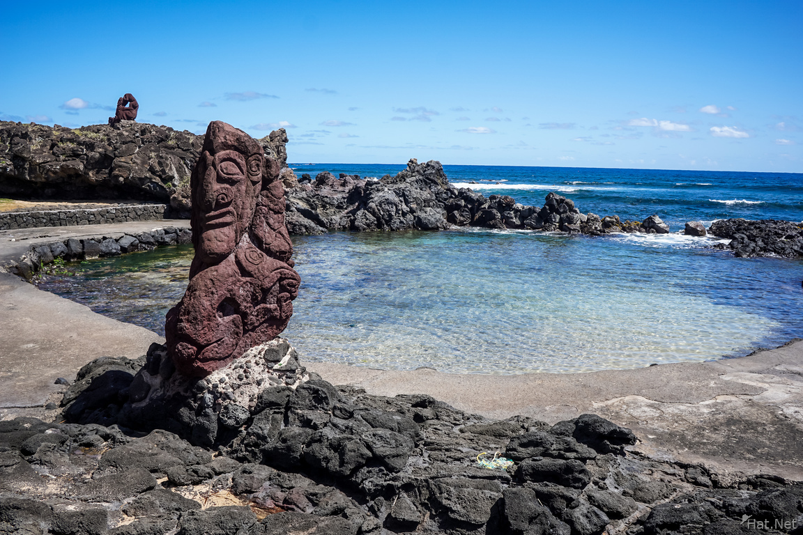 Sculpted Moai of the Seaside