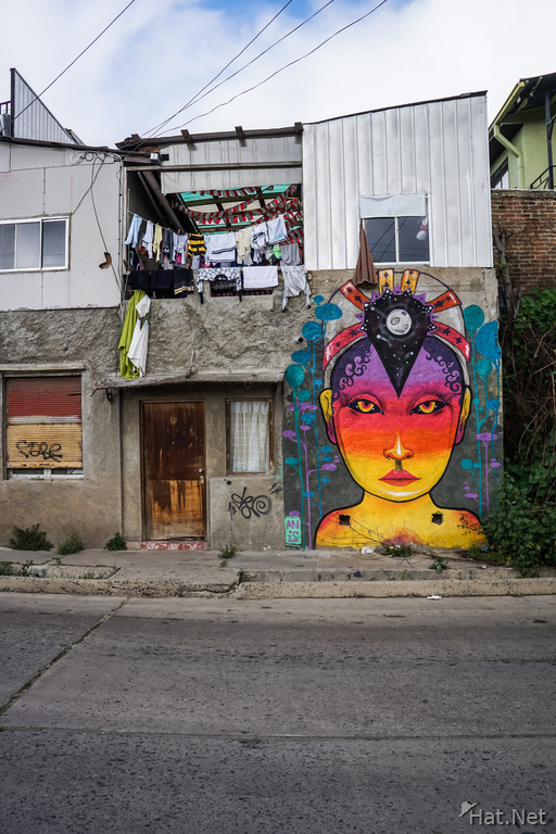 Valparaiso Street Art Magic Lady