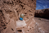 hello kitty and the volcanic rocks San Pedro de Atacama,  Región de Antofagasta,  Chile, South America